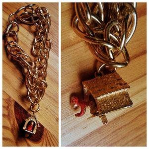 Man in The Doghouse Novelty Charm Bracelet